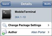 更改 SSH 密碼教學 (MobileTerminal)